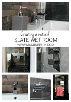 How we created our natural slate wet room