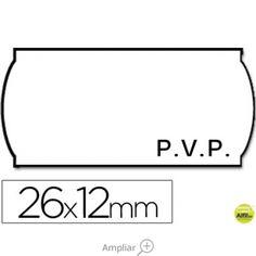 ETIQUETAS METO ONDULADAS 26 X 12 MM PVP BL. ADH 2 -ROLLO 1500 ETIQUETAS