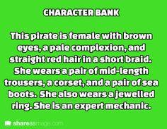 character bank. I'm ignoring the mechanic part