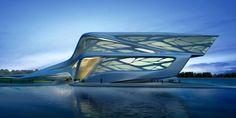 Zentrum für darstellende-Kunst Zaha Hadid-Abu Dhabi-futuristisches Design