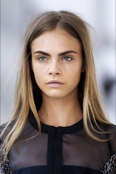 Cara Delevinge you are amaze-balls! dirty blonde bronde caramel diffused balayage hair goals