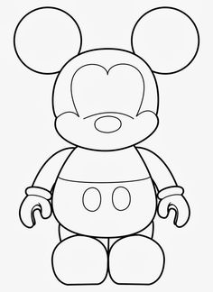 Here a great Mickey Mouse Template. Will be very useful for decorating Mickey Parties. Visit our · Mickey Mouse Alphabet Selection! Mickey Mouse Template, Mickey Minnie Mouse, Disney Mickey, Felt Patterns, Applique Patterns, Trick Or Treat Bags, Mickey Party, Disney Crafts, Felt Crafts