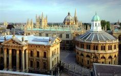 Sheldonian Theatre..The central university building is the Sheldonian which faces the Divinity School and the Old Bodliean ...