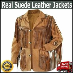 More Details = Whats app = 00923046128675............ New Men Western Cowboy Real Suede Leather Jacket with Fringes ....... This fabulous Western leather jacket. Gives you style and comfort while wearing it, be the envy of your crowd. A great fashion western style leather jacket. #Leather #jackets #MenStyle #Fashion #Outfit #Best Fringe Leather Jacket, Leather Jackets, Suede Jacket, Fringe Coats, Western Wear, Western Style, Cowboy Western, Western Suits, Cowboy Gear