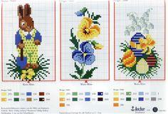 Schema punto croce Violette Coniglietto