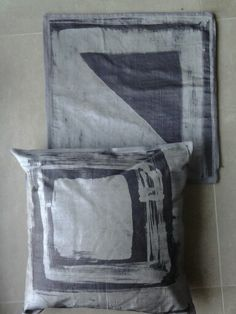 Pillows 2 : batik on shantung silk