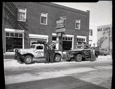 Photo shows North West Motors on Gaetz Avenue in 1954.