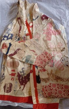 A hand sewn patchwork applique jacket (maker unknown) from the collection of the English Folk Dance & Song Society