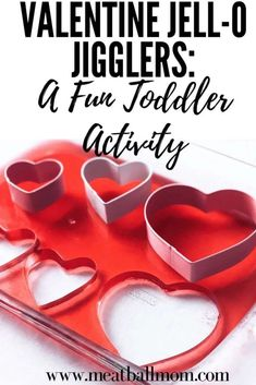 Looking For a Fun Toddler Activity for Valentine's Day? These Jell-O Jigglers are sure to be a hit! gift for toddlers Valentine Jell-O Jigglers: A Fun Activity For Toddlers My Funny Valentine, Kinder Valentines, Toddler Valentine Crafts, Valentine Gifts For Kids, Valentines Day Activities, Valentines Gifts For Boyfriend, Valentines Day Party, Valentines Day Decorations, Valentine Desserts