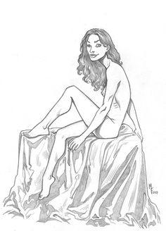 A beleza da mulher no estilo dos quadrinhos.