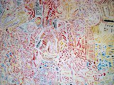 Dickie Minyintiri, Wati Wilu-ku Inma Tjukurpa, acrylic on linen, 155 x 184 cm. Ernabella Arts, JGM Art Ltd. Aboriginal Artwork, Aboriginal Artists, Indigenous Art, Art Of Living, Art Gallery, Contemporary, Pattern, Painting, Beautiful