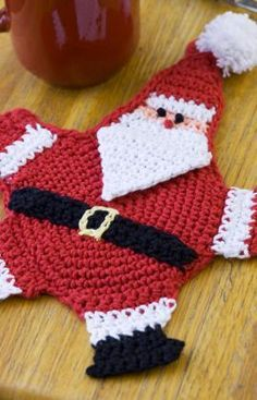 Mr. Claus Potholder - So cute!! I plan to make these for next Christmas!