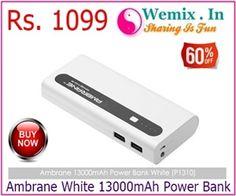 Ambrane White 13000mAh Power Bank Rs 1099
