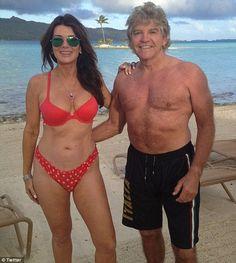 Still got it: Lisa Vanderpump with her husband of 30 years, Ken Todd, after they renewed their wedding vows in Bora Bora this summer