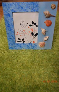 Moldura em madeira pinho pintada à mão com motivos marinhos e apliques. Para comprar ou dúvidas, contactar arte_encaixarte@hotmail.com ou https://www.facebook.com/encaixarte/