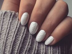 Fans of gel nails and cozy sweaters will love this video tutorial!