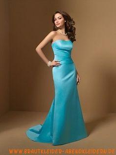 Langes elegantes Abendkleid aus Satin