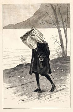 Artist: Edward Gorey.She's got her head in a book ;0)