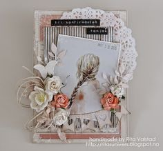 Konfirmation card with Pion design