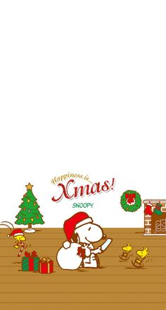 スヌーピーのクリスマス iPhone壁紙 Wallpaper Backgrounds iPhone6/6S and Plus SNOOPY Christmas