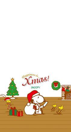 スヌーピーのクリスマス iPhone壁紙 Wallpaper Backgrounds iPhone6/6S and Plus SNOOPY Christmas