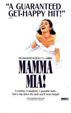Mamma Mia Poster Broadway Theater Play MasterPoster Print, PDecorate your home or office with high quality wall décor. Mamma Mia Poster Broadway Theater Play is that perfect piece that matches your style, interests, and budget. Band Poster, Poster S, Poster Prints, Poster Ideas, Mamma Mia, Broadway Plays, Broadway Theatre, Broadway Shows, Broadway Nyc