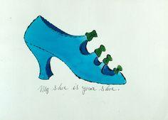 Shoe | Andy Warhol, Shoe (1954)