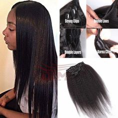 %http://www.jennisonbeautysupply.com/%     #http://www.jennisonbeautysupply.com/  #<script     %http://www.jennisonbeautysupply.com/%,     	     		7A Grade Yaki Straight Clip In Hair Extensions Virgin Brazilian Hair Italian Coarse Yaki Human Clip In Hair Extensions 8pcs 120g		Hair Material :100 % Unprocessed Virgin Human Hair 	Hair Feature:	1. 100% Real Human Hair 	2. Soft ,Smooth, Gloosy,Full Cuticle ,Double weft 	3. Hair, No Shed No Tangle ,No Knots, No Lice 	4. With Thick Bottom, No Short…