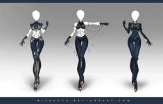 (OPEN) Adoptable Outfit Auction 159-161 by Risoluce.deviantart.com on @DeviantArt