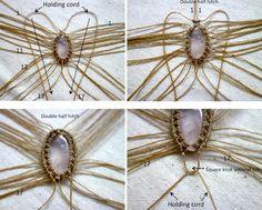 Ecocrafta Macrame : Primitive necklace