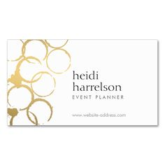 2207 best wedding business card templates images on pinterest gold wine stains party planner business card wajeb Images