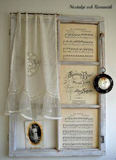 Nostalgia e romanze...creative use of old window