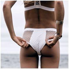 white transparant lingerie