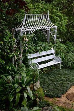 Garden and Home Garden Benches, Hammocks, Outdoor Furniture, Outdoor Decor, Potted Plants, Chairs, Home And Garden, Gardens, Outdoor Structures