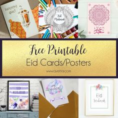 List of Free printable Eid cards and posters