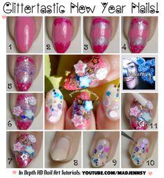 Glittertastic New Year Nails HD Nail Video Tutorial Youtube