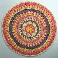 Crochet Mandala Wheel made by  Carol, North Yorkshire, UK,  for yarndale.co.uk