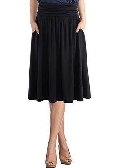 Material: Rayon 95% + Spandex 5% Extremely Soft Fabric. High Quality Heavy Fabric Minimizing See Through. Comfy Style. Easy Flowing Material. Skirts with Pockets. High Waisted, Side Shirring Detail on the side Approximate Measurements Before Stretch  Above Knee Length Skirt – S0022 [Small... http://darrenblogs.com/us/2018/01/30/trendy-united-womens-rayon-spandex-high-waist-shirring-flared-pocket-skirt/