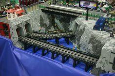 LEGO Train Tunnels - legotrein forum // legotrain forum - New Ideas Lego Robot, Lego Duplo, Lego Technic, Lego City, Lego Mountain, Lego Bridge, Lego Track, Lego Winter Village, Lego Wedding