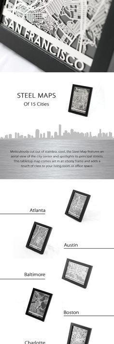 Steel Maps Of Us Cities Globalinterco - Us steel maps