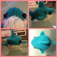 I made this super cute shark :) #needlefelting #cute #crafts #hobby