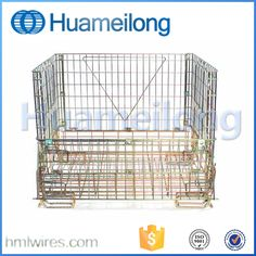 China large metal stackable steel storage cages containers