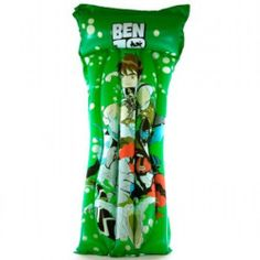 These Ben10 Lilos are perfect for a day at the beach, countryside or even in the home or garden. They are made of high quality double welded rubber to maintain strength under weight. The lilo can be inflated either by mouth or with a foot pump. There are two separate no-return valves, one in the pillow and one for the rest of the lilo making it easier to blow up.
