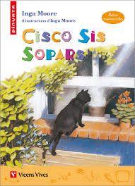 El gat Cisco pertany a sis amos, viu a sis cases i cada dia sopa sis vegades. Com que cadascun dels seus amos creu que el gat és seu i només seu, en Cisco viu a cor què vols… Fins que un dia es refreda i com que els sis amos el porten al veterinari, se li veu el llautó…!  MOORE, I. Ed Vicens Vives 2003