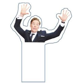 2014 ACADEMY AWARDS (March 2, 2014) ~ Benedict Cumberbatch Oscars 2014 U2 photobomb bookmark.
