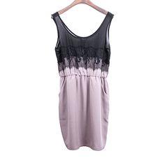 Lace Embellished Woven Fabric Dress