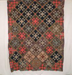 Rocky Mtn Quilts QT201 Ohio Star / Tippecanoe & Tyler Too Quilt Top, 1875