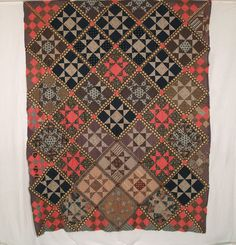 Rocky Mtn Quilts QT201 Ohio Star / Tippecanoe & Tyler Too Quilt Top, 1875