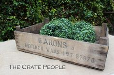 Vintage Wood Crates From Belgium by FoundInAttic on Etsy
