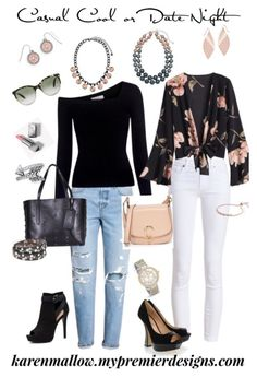 """""""Casual Cool or Date Night"""" by karen-whitacre-mallow on Polyvore"""
